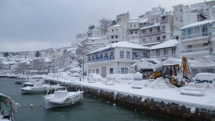 Kältewelle über Kreta